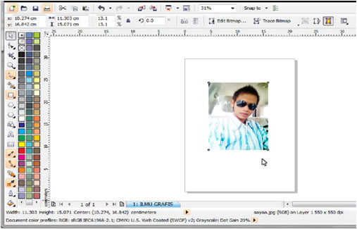 screenshot ilmugrafis corel
