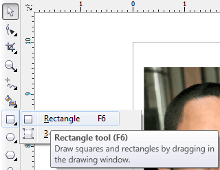 Rectangle tool (F6)