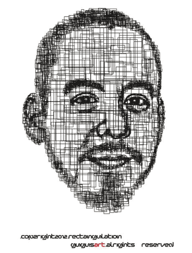 Rectangulation mike shinoda by GugusArt