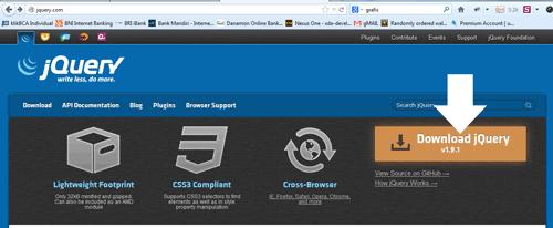 screenshot website jquery.com