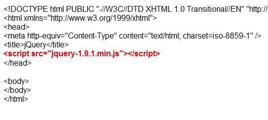 script pemanggil jQuery