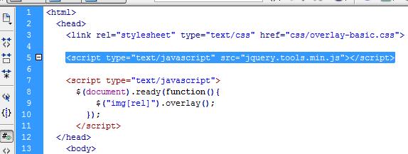 script overlay