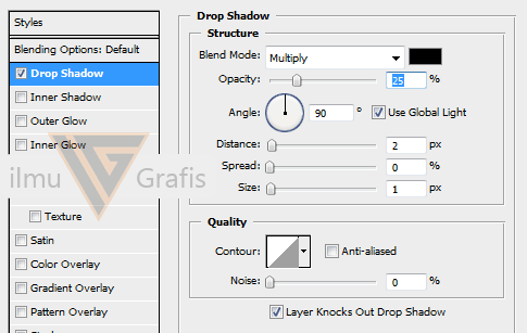 setting drop shadow