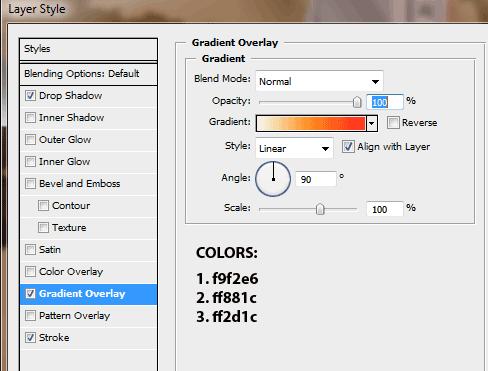 Pengaturan Gradient Overlay