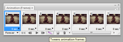 Tweens Animation Frames