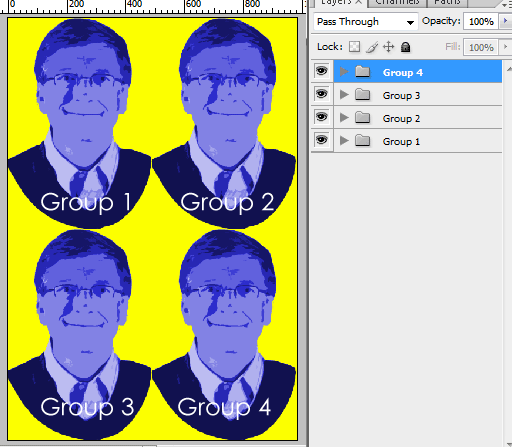 Group pop arts
