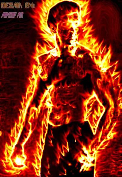 manusia api - Fire Man