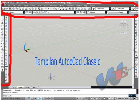 Autocad Classic Layout