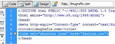 penempatan tag html favicon.ico