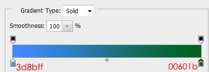 Setting gradientnya Gradient Overlay